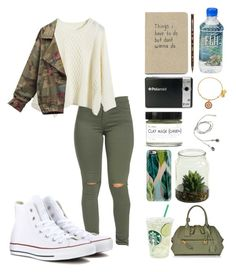 """""""Fall #1 """" by kaleyyy00 ❤ liked on Polyvore featuring Polaroid, Casetify, Fig+Yarrow, Caran D'Ache, Alex and Ani, Converse and Marc Jacobs"""