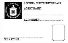 Printable id badge template luxury girls secret agent badge.