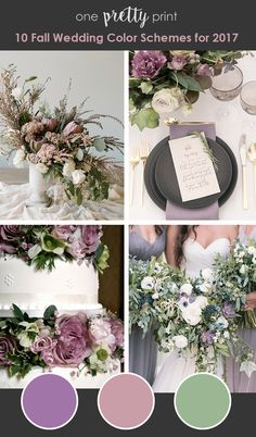 Fall Wedding Colors_Lavender Mauve Leaf Green Related posts:Fall wedding colors royal blueCopy this 80 fall wedding colors inspirations High Quality Artificial Fall Wedding Flowers to Create Your Wedding Designs. Lavender Wedding Colors, Mauve Wedding, Fall Wedding Colors, Wedding Color Schemes, Purple And Green Wedding, Lavender Weddings, Wedding Color Palettes, Wedding Color Combinations, Colour Palettes
