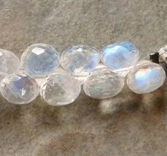 Rainbow Moonstone Faceted Onion Briolettes