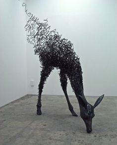 Acrylic resin and steel wire by Tomohiro Inaba: