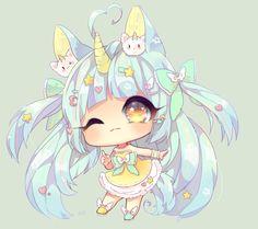 มีอีดอกทองคนนึงก้อปไอเดียรุปนี้ไปลงแนลตัวเอง Chibi Kawaii, Cute Anime Chibi, Cute Anime Pics, Kawaii Art, Kawaii Anime Girl, Chibi Girl Drawings, Cute Kawaii Drawings, Cartoon Drawings, Chibi Unicorn