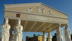 Plaza de las Musas en Chiclayo, Peru. The Muses Park in Chiclayo, Peru
