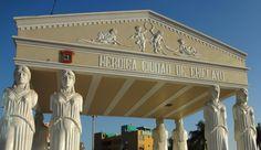 Plaza de las Musas en Chiclayo, Peru. The Muses Park in Chiclayo, Peru