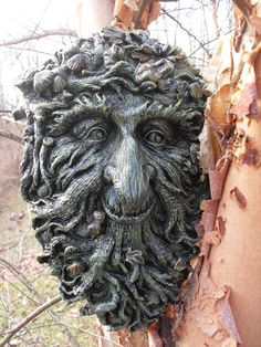 Greenman Statue,Green Man Plaque,Tree Ent,Forest Spirit Statue,Greenman Wall Hanging,Nature Spirit Statue, Pagan, Wiccan, Plaque,Stone