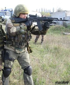 Russian spetsnaz with AK-74M 5 by Garr1971
