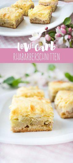 Low Carb Rhabarberschnitten mit Quarkhaube www.lowcarbkoestlichkeiten.de