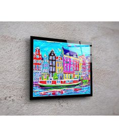 Print On Plexiglass Amsterdam PA.015 Amsterdam Souvenirs, Amsterdam Jordaan, Online Painting, Online Gallery, Modern Art, Design Art, Original Paintings, Auction, Artist