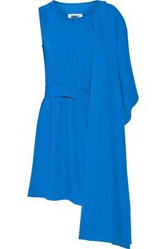 Draped crepe mini dress #minidress #women #covetme #mm6maisonmargiela #fashion #fbloggers #HumpDay #OOTD