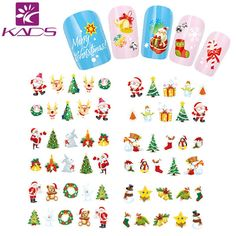 KADS BLE1577-1587 Snowman & Tree Nail Christmas Style nail sticker water women nail art stickers water transfer for nail art