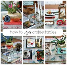 Hi Sugarplum | How to Style Coffee Tables by hi sugarplum!, via Flickr
