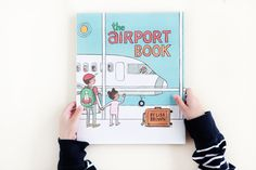 The Airport Book by Lisa Brown. Roaring Brook Press, 2016. // avery and augustine