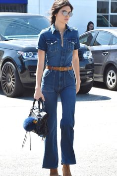 From Kendall Jenner's Denim Jumpsuit to Emma Roberts' Scream Queens-Inspired Look, See What this Week's Best Dressed Celebs Are Wearing: Teen Vogue waysify