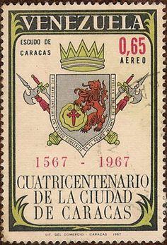 Estampilla del Cuatricentenario de la ciudad de Caracas año 1967 fb8fa140f4e6
