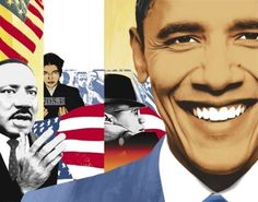 """The Joshua Generation,"" about race and the Obama campaign. Obama Art, John Ritter, James Rosenquist, Growth And Decay, Renaissance Artists, Harlem Renaissance, Magazine Collage, Rosa Parks, Art For Art Sake"