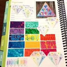You can get a free PDF of the project planner page from the Quilter's Planner by signing up on their website!  Check out this gorgeous and organized quilting project planner page by Brandi A from lunardreams1 on IG.