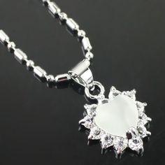 Blanc fashion strass collier