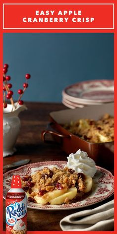 Crisp winter days, meet your match! This easy-to-make, mouthwatering Apple Cranberry Crisp is perfect for adding some warmth—and some joy—to the season!