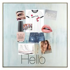 """""""☮️Hello☮️"""" by lacie-clair on Polyvore featuring John-Richard, Tory Burch, AG Adriano Goldschmied, Converse, OPI and LC Lauren Conrad"""