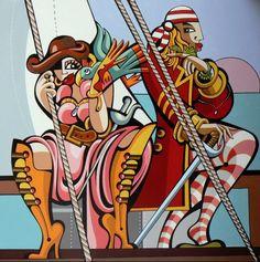 Yaka et fokon (Painting) by Alfredo Lopez