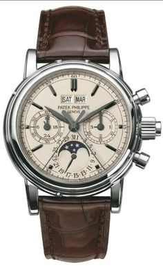 Discover a large selection of Patek Philippe Perpetual Calendar Chronograph watches on - the worldwide marketplace for luxury watches. Compare all Patek Philippe Perpetual Calendar Chronograph watches ✓ Buy safely & securely ✓ Men's Watches, Dream Watches, Fine Watches, Luxury Watches, Cool Watches, Fashion Watches, Watches For Men, Casual Watches, Stylish Watches