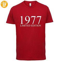 1977 Limierte Auflage / Limited Edition - 40. Geburtstag - Herren T-Shirt - Rot - M (*Partner-Link)