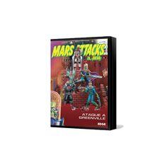 Mars Attacks: Ataque a Greenville  Mars Attacks: Ataque a Greenville.  Nuevas figuras de héroes y villanos para trasladar a la superficie de juego en tus partidas de Mars Attacks.
