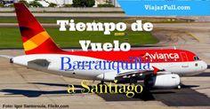 Tiempo de vuelo desde Barranquilla a Santiago de Chile