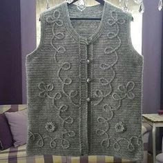 Ins ve yunlerim – Design Baby Knitting Patterns, Loom Knitting, Knitting Designs, Crochet Baby, Knit Crochet, Moda Emo, Knit Vest, Coat Dress, Dresses