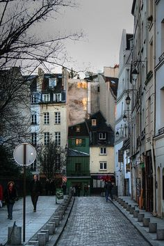 The streets of Paris look so peaceful and somber.