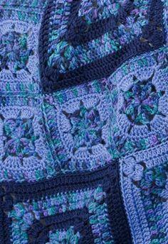 Free Bold Blues Throw Crochet Pattern
