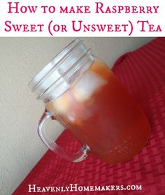 There are some delicious fruity tea combos we& coming out with this summer. This time: Raspberry Sweet or Unsweet Tea! Raspberry Iced Tea, Raspberry Syrup, Raspberry Sweet Tea Recipe, Non Alcoholic Drinks, Beverages, Cocktails, Iced Tea Recipes, Smoothie Drinks, Smoothies