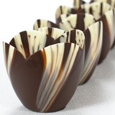 Marbled Chocolate Tulip Cup - 3 Inch - 1 box - 30 count - http://mygourmetgifts.com/marbled-chocolate-tulip-cup-3-inch-1-box-30-count/