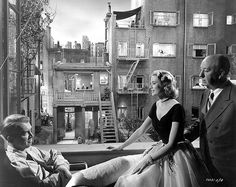 Directed by Alfred Hitchcock.  With James Stewart, Grace Kelly, Wendell Corey, Thelma Ritter. A wheelchair-bound photographer spies on his neighbours from his apartment window and becomes convinced one of them has committed murder.