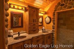 Beautiful master bathroom suite. Photos and floor plans are at www.GoldenEagleLogHomes.com  #loghomeliving #construction #loghomes #loghome #logcabins #cabin #logcabins #home #homes #houzz #outdoors #nature #rusticliving