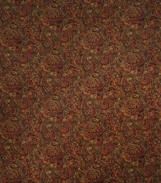 Home Decor 8\u0022x8\u0022 Fabric Swatch-Jaclyn Smith Internet Garden Spice,