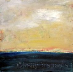BLUE by Betty Krause Art Abstract; landscape; mixed media; acrylics; oil pastels.