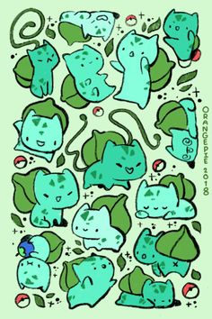 Welcome to the world of Pokemon Oc Pokemon, Pokemon Bulbasaur, Pikachu, Mudkip, Cute Pokemon Wallpaper, Kawaii Wallpaper, Cute Cartoon Wallpapers, Kawaii Drawings, Cute Drawings