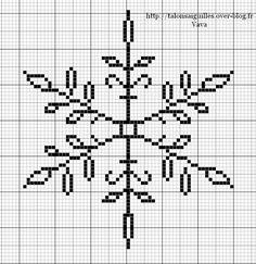Bobble stich the snowflake. ac or hdc the background Cross Stitch Charts, Cross Stitch Designs, Cross Stitch Patterns, Cross Stitching, Cross Stitch Embroidery, Embroidery Patterns, Hand Embroidery, Le Blog De Vava, Diy Broderie