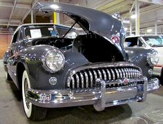 1947 Buick Roadmaster convertible  Hood conveniently opens from either side.