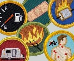 Camping Demerit Badges. Very cool website as well. Lots of neat stuff! Great for kids. So cute camping stuff.