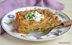 Rina Diet, Sour Cream, Lasagna, Quiche, Feta, Cauliflower, Tart, Good Food, Awesome Food