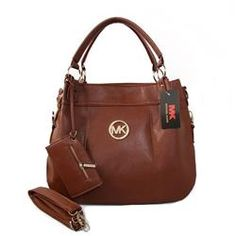 Cheap Michael Kors Logo With a packet Large Brown Satchels Clearance