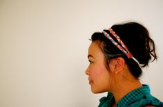 Braided Headbands: fabric scrap braided headbands