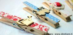 Mollette di legno decorate...