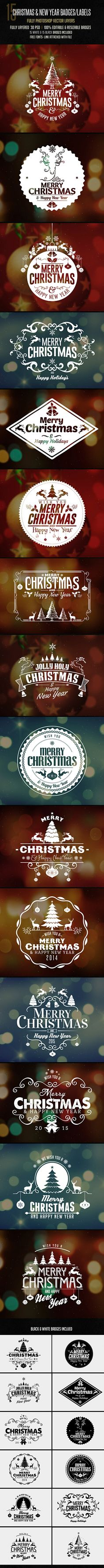 Christmas Badges Label on Behance