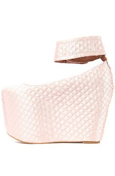 Jeffrey Campbell Shoe Pointe in Quilted Pink Satin - Karmaloop.com