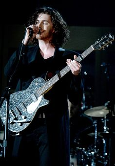 57th GRAMMY Awards Show (2 Of 2) - Hozier - Hozier performs on the 57th Annual GRAMMY Awards on Feb. 8 in Los Angeles