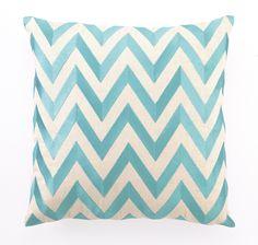Turquoise Zig Zag Pillow