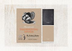 Thanksgiving Dinner Printable Invitation by customaed on Etsy - Custom personalized files send straight to your inbox!  Print at home or at your favorite print shop!